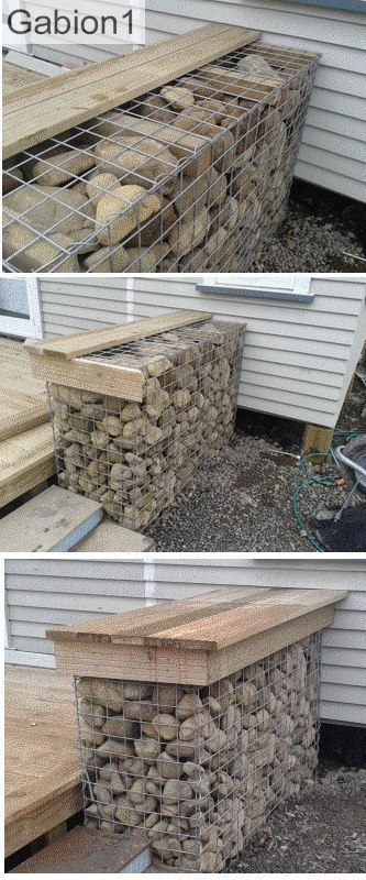 gabion seat attachment detail